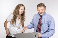 Funny moment in the office Royalty Free Stock Photos