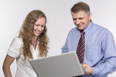 Funny moment in the office Royalty Free Stock Photo