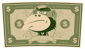 Funny Money - Cartoon US Dollar Royalty Free Stock Image