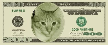 Funny Money (with clipping paths) Stock Image