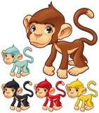 Funny monkey. Cartoon and vector isolated character Stock Photo