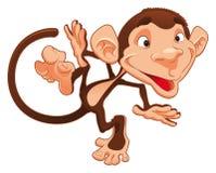 Funny monkey vector illustration