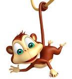 Funny  Monkey cartoon character Royalty Free Stock Photo
