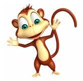 Funny  Monkey cartoon character Stock Image