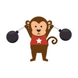 funny monkey circus icon Stock Images