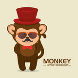 funny monkey design Royalty Free Stock Photography