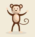 Funny monkey design Royalty Free Stock Images