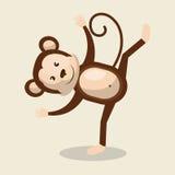 Funny monkey design Stock Images