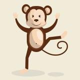 Funny monkey design Stock Photography