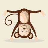 Funny monkey design Royalty Free Stock Image