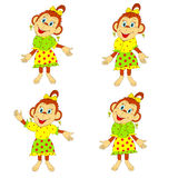 Funny monkey in a dress Royalty Free Stock Images