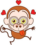 Funny monkey feeling madly in love Stock Photo