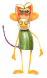 Funny monkey made of vegetables Stock Image