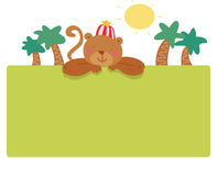 Funny monkey page Royalty Free Stock Photo