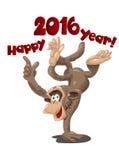 Funny monkey symbol of 2016 Royalty Free Stock Photography