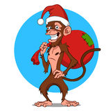 Funny monkey. Vector. Funny character for New year and Christmas Stock Image
