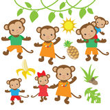 Funny monkey vector Stock Image
