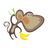 Funny monkey. Vector Illustration of Cartoon Monkey Royalty Free Stock Images