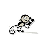 Funny monkey for your design Royalty Free Stock Photography