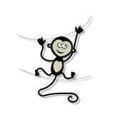 Funny monkey for your design Royalty Free Stock Photos