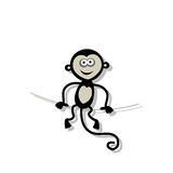 Funny monkey for your design Stock Photos