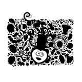 Funny monkey for your design. Vector illustration Royalty Free Stock Photography