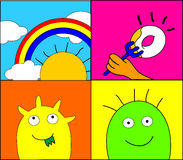 Funny monster Royalty Free Stock Images