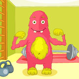 Funny Monster. Royalty Free Stock Photo
