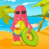 Funny Monster. Cartoon Character Funny Monster. Vector Illustration. EPS 10 vector illustration