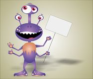 Funny monster stock image