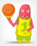 Funny Monster. Basketball. Royalty Free Stock Photography