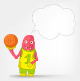 Funny Monster. Basketball. Royalty Free Stock Image