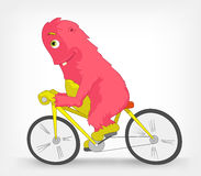Funny Monster. Biker. Royalty Free Stock Photos