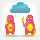 Funny Monster. Cloud Service. Stock Photos