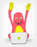 Funny Monster. Coder. Royalty Free Stock Photography