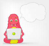 Funny Monster. Coder. Stock Photos