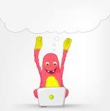 Funny Monster. Coder. Stock Image