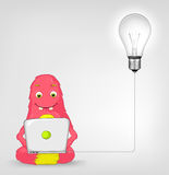 Funny Monster. Coder. Royalty Free Stock Image