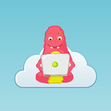 Funny Monster. Coder. Royalty Free Stock Images