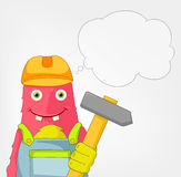 Funny Monster. Contractor. Royalty Free Stock Images