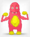 Funny Monster. Diet. Royalty Free Stock Photography