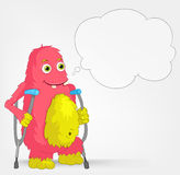 Funny Monster. Disabled. Stock Photos