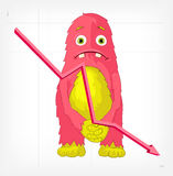 Funny Monster. Engry. Royalty Free Stock Photography