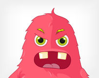 Funny Monster. Engry. Stock Image