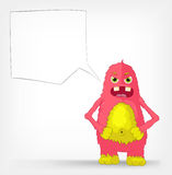 Funny Monster. Engry. Stock Photos
