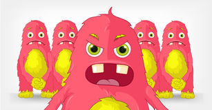 Funny Monster. Engry Boss. Cartoon Character Funny Monster. Engry Boss. Vector EPS 10 Royalty Free Stock Images
