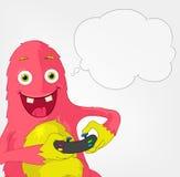 Funny Monster. Gamer. Stock Image
