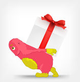 Funny Monster. Gift. Stock Photo
