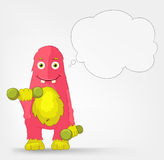 Funny Monster. Gym. Stock Photography