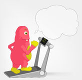 Funny Monster. Gym. Royalty Free Stock Photography